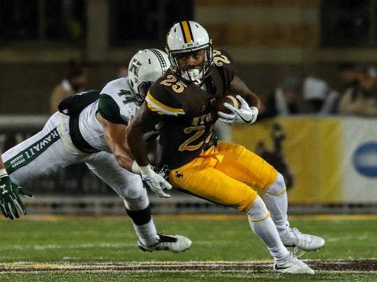 Wyoming Cowboys wide receiver Austin Conway.