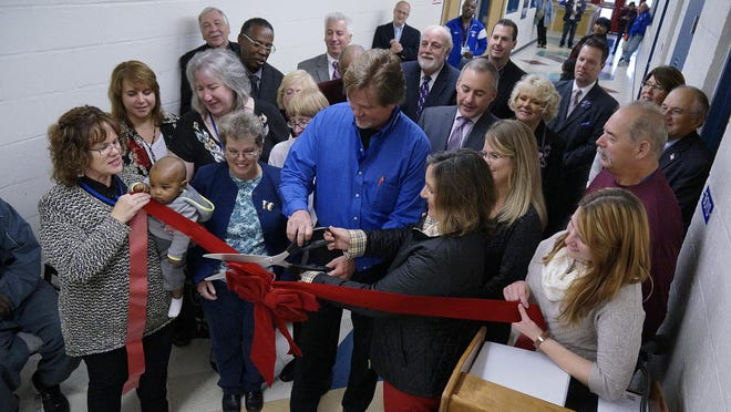 With the ceremonial ribbon cut, Westland's Jefferson Barns Community Vitality Center was officially dedicated.