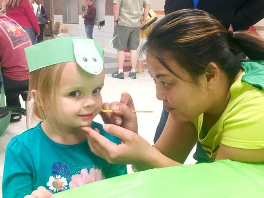 Tucker Turtle Night included an opportunity for face-painting.