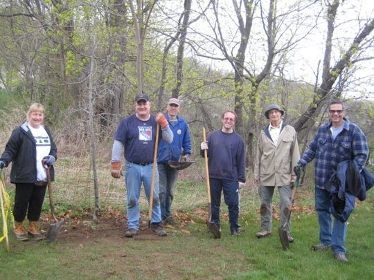 The dedicated planting crew of Suzanne Mutz Darwell, Chris Carcich, Tom Bowmaster, Dr. Asher Siebert, Joe Attamante and Gary Olsen will be helping the Burnham Park Association celebrate Arbor Day on Saturday, April 21, 2018.