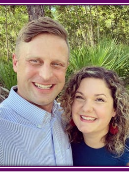 Doug Hankins is seen here with his wife, Natalie. Hankins is the new lead pastor at First Baptist Church.