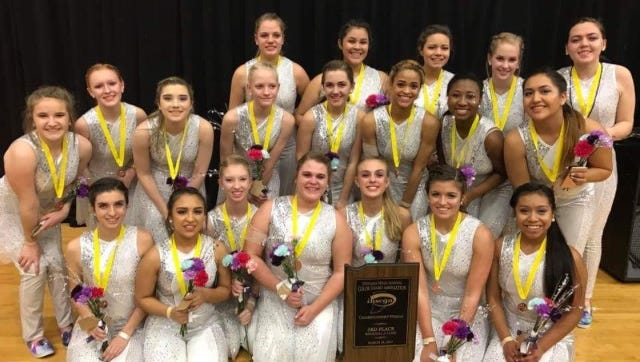 Richmond High School Devilettes earned a bronze medal at the Indiana High School Colorguard Association Regional A State Competition.