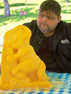 Master cheese carver Troy Landwehr will be in the Future Generations area at Farm Technology Days in Johnson Creek, July 23-25.