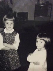 Sisters Nola Galloway (left) and Pamela Wellumson as children.
