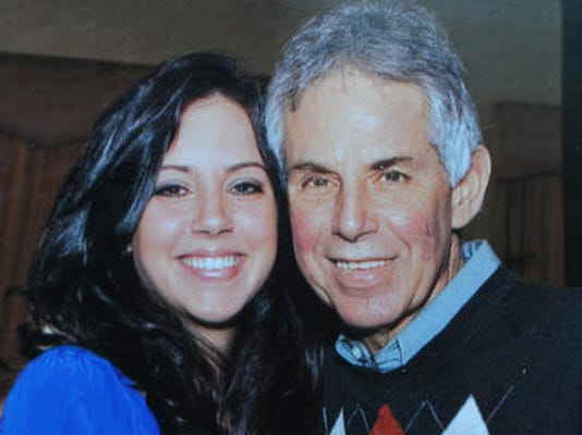Anne Marie Leamy with her father, Jeremiah Leamy, 62.