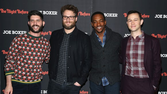 Success! Anthony Mackie, second from right, infiltrated