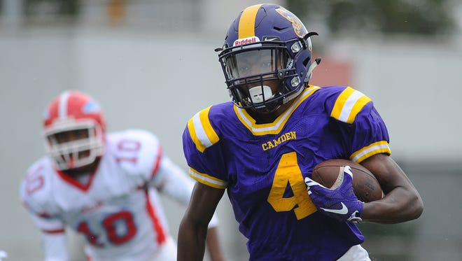 Jajuan Hudson and the rest of the Camden High School football team will look to snap a two-game losing skid when they travel to No. 6 Rancocas Valley on Saturday.