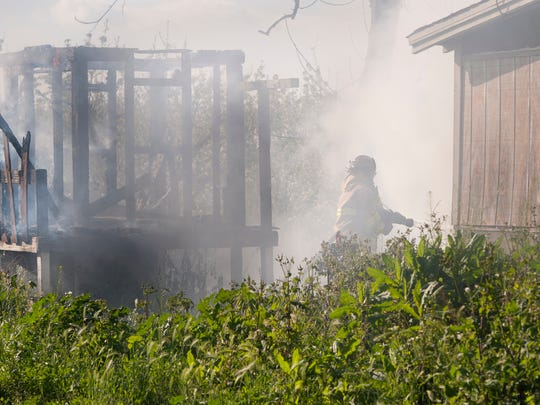 Visalia Fire Department responded to a vacant house