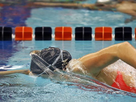 Eastern York's Madison Nalls swims the 500 yard freestyle