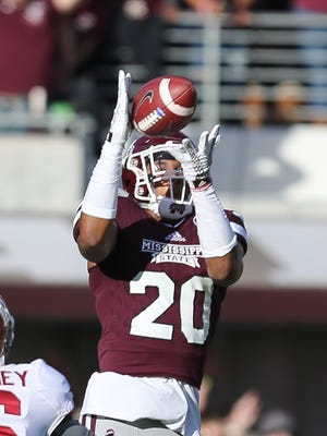 Mississippi State defensive back Brandon Bryant led the team in interceptions last year.