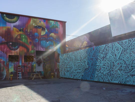 A developing art complex in Los Angeles, The Container