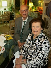 Delton Harrison and Mai Doles at Ruth Atkins party for friend from Australia.