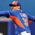 Mets pitcher Matt Harvey has shown no ill effects from Tommy John elbow surgery in the offseason, hitting the upper-90s on the radar gun this spring.
