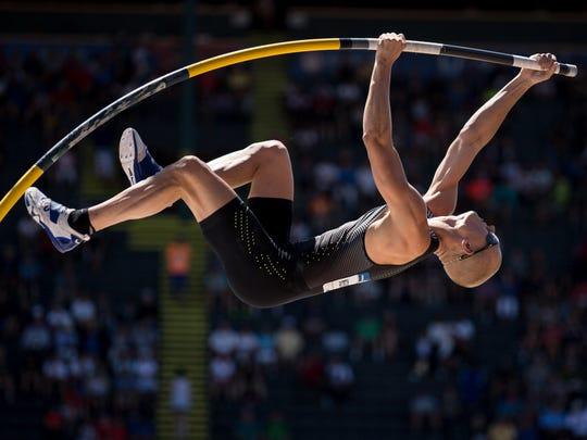 Oxford native Sam Kendricks claimed his third national title in the pole vault last week.