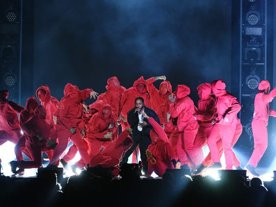 Kendrick Lamar performs during the 60th Annual GRAMMY