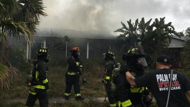 Scene of the fire on Bianca Drive., Palm Bay