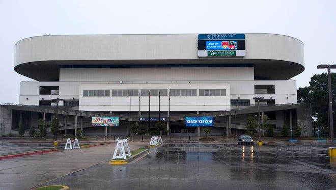 The Pensacola Bay Center plans to install metal detectors after a mass shooting on Sunday, Oct. 1, 2017, in Las Vegas that left at least 59 people deadand injured hundreds.
