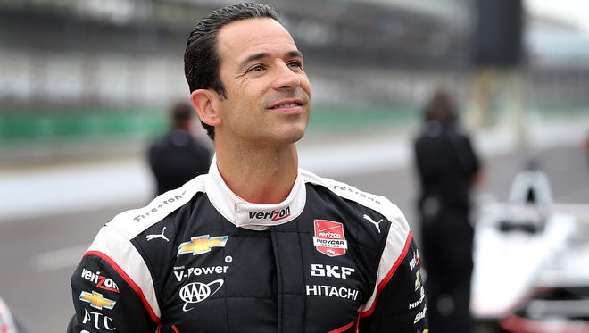 Helio Castroneves was not penalized for running into the back of Scott Dixon in the first corner of Saturday's Grand Prix of Indianapolis.
