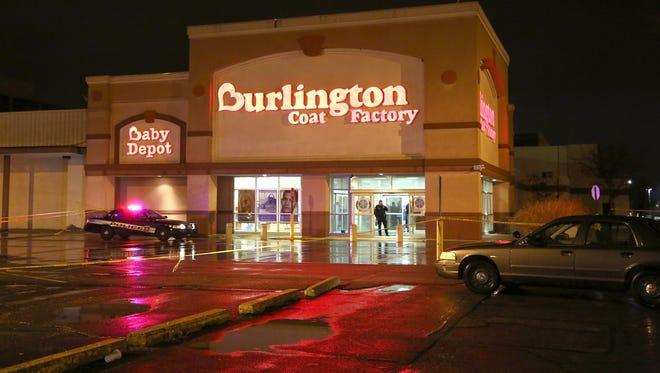 A shooting happened inside the Burlington Coat Factory store at Eastland Center in Harper Woods on Saturday, Dec. 26, 2015.