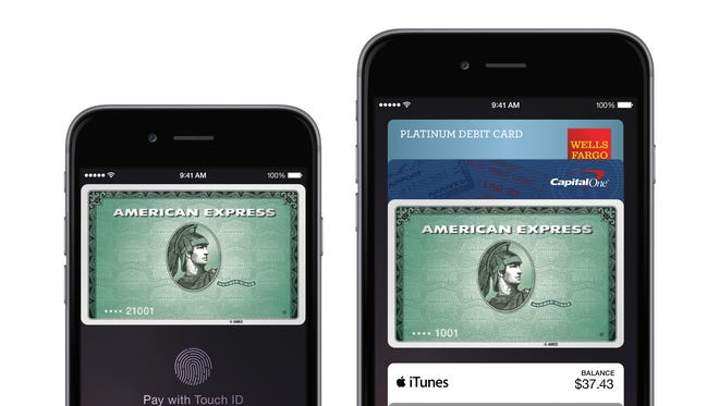 Apple Pay works with American Express and other credit cards.