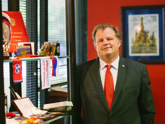 Laywer G. Kline Preston IV at his office in Nashville, TN, on April 26, 2017.