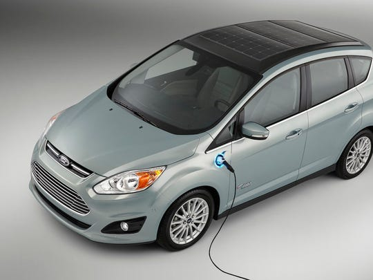 Ford unveiled a solar-powered electric car concept at CES this past January.