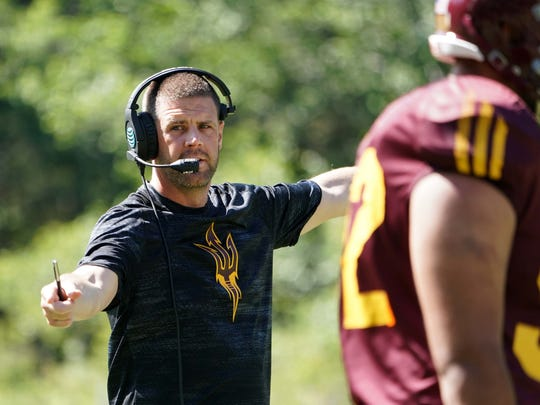 Arizona State offensive coordinator Billy Napier at