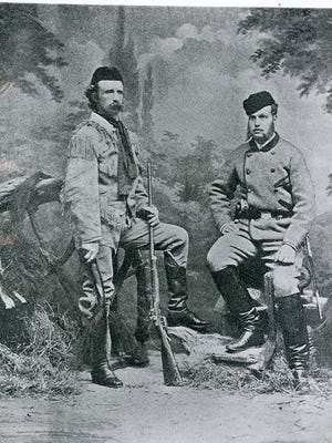 Army Lt. Col. George Armstrong Custer, left, and Russian Grand Duke Alexis posed for a photo together in 1872 as Alexis took a goodwill tour of the United States, which included a visit to Topeka.