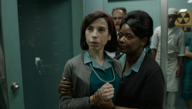 Sally Hawkins and Octavia Spencer star as workers in a secret 1960s government facility in ?The Shape of Water.?    20th Century Fox Sally Hawkins and Octavia Spencer in the film THE SHAPE OF WATER. Photo courtesy of Fox Searchlight Pictures. © 2017 Twentieth Century Fox Film Corporation All Rights Reserved [Via MerlinFTP Drop]
