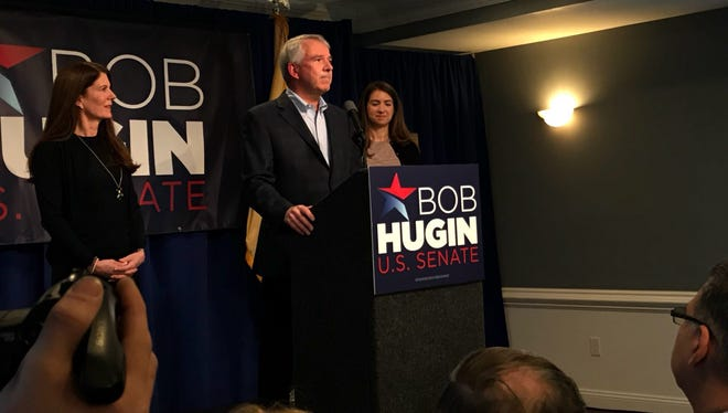 Republican Bob Hugin announced his bid to run for the party's nomination in the race for U.S. Senate on Tuesday, Feb. 13, 2018.