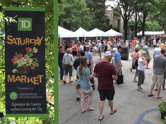 The TD Saturday Market in Greenville is one of the largest farmers markets in the Upstate.