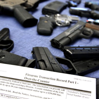 A federal firearms transaction record, which includes