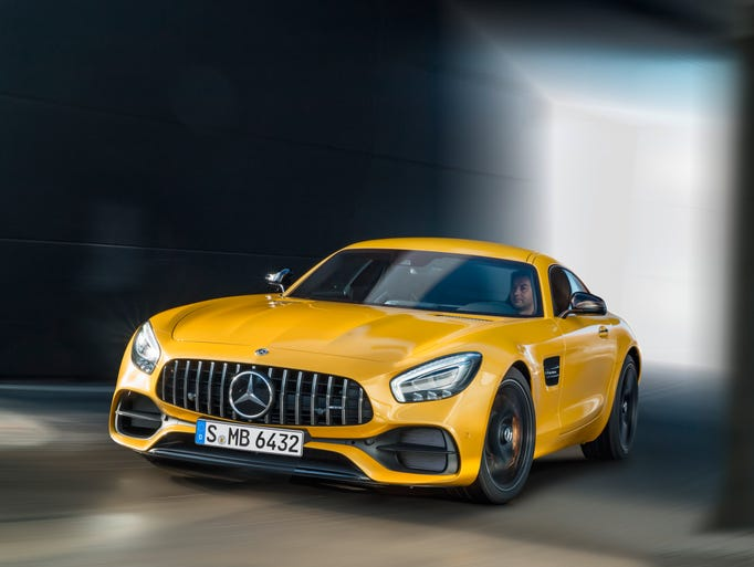 The Mercedes-Benz AMG GT S, in Solarbeam Yellow,  was