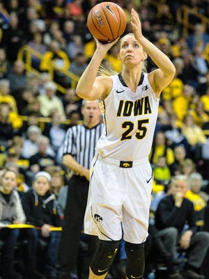 Iowa senior Kali Peschel is one of only three returning Hawkeyes who averaged more than 10 minutes a game last season.