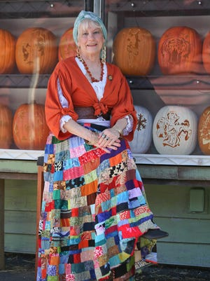 Donna O'Bryan, known as the Pumpkin Lady, at the Louisville Zoo in Louisville.