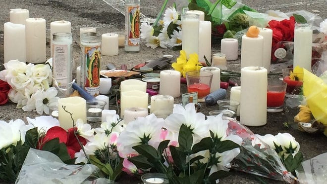 A shrine has been placed in the parking lot of Greenbrier High School for Logan Stephenson, who died Thursday, Jan. 21, after possibly drinking racing fuel mixed with soda. A vigil was held for the teen last week, according to Greenbrier police.
