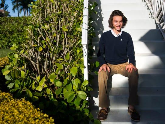 Cooper Pertchik, an eighth-grader at  Community School