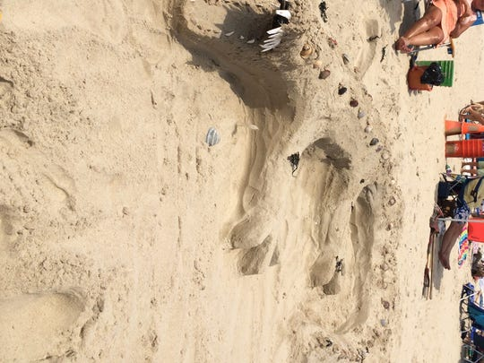 The alligator wone the open category in the sandcastle competition Saturday at Delaware Seashore State Park.