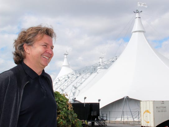 Cavalia founder Normand Latourelle in front of the