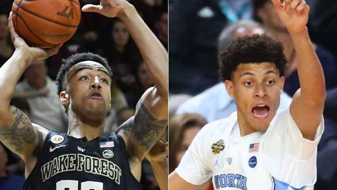 John Collins of Wake Forest and Justin Jackson of North Carolina.