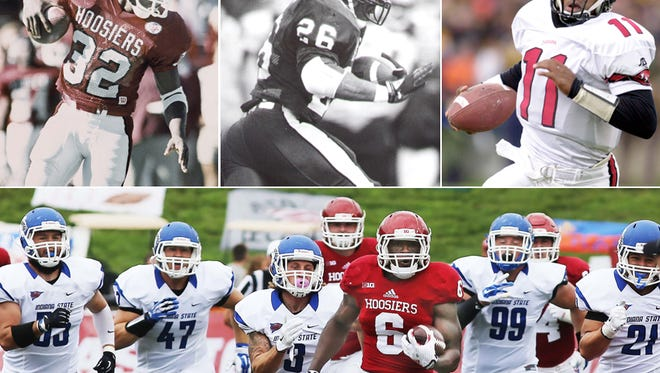 IU's Tevin Coleman, bottom, looks to join the likes of Anthony Thompson, Vaughn Dunbar and Antwaan Randle El among the 1,000-yard club.
