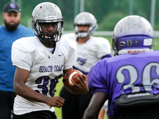 High School Football: Space Coast football practice
