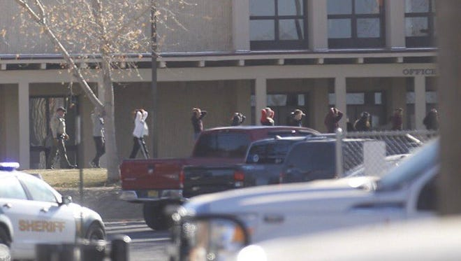 A school shooting at Aztec High School in New Mexico on Dec. 7, 2017, left 2 people and the shooter dead, authorities said.