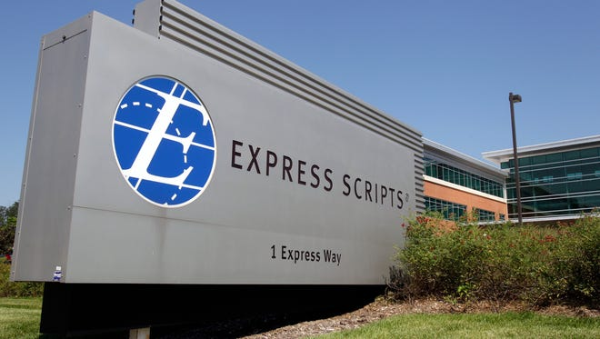 The headquarters of Express Scripts in Berkeley, Missouri, is shown on July 21, 2011. The company, which handles the prescription medication plan for Delaware state workers, has announced that 85 drugs won't be covered starting in January