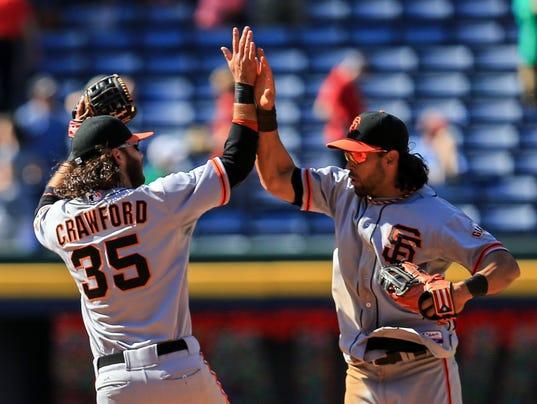 USP MLB_ San Francisco Giants at Atlanta Braves
