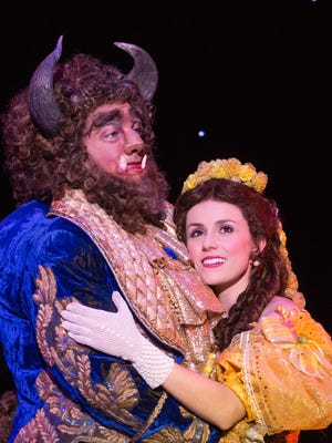 """Jillian Butterfield is Belle and Ryan Everette Wood plays the Beast in """"Beauty and the Beast,"""" coming to the Peace Center, Dec. 23-28."""