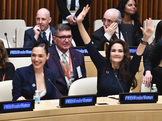 Gal Gadot and Lynda Carter were at the United Nations