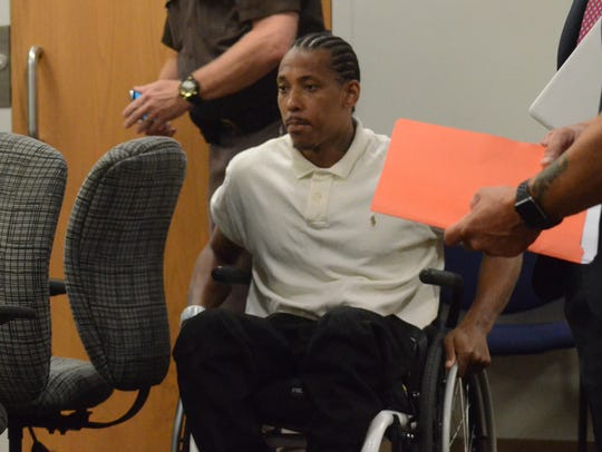 Paul Tyler enters the courtroom Wednesday, June 20,