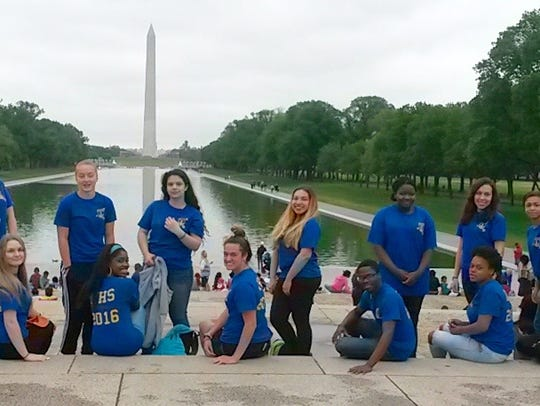 Linden High School's national honor society trip to