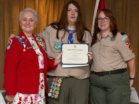 DAR honors Eagle Scout PHOTO CAPTION